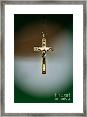 Jesus On The Cross 1 Framed Print by Paul Ward