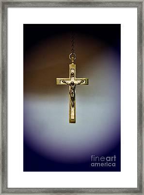 Jesus On The Cross 2 Framed Print by Paul Ward