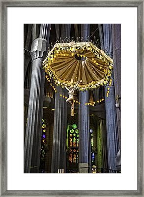 Jesus On The Cross - Sagrada Familia Church - Barcelona Framed Print
