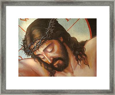 Jesus On The Cross Variant 2 Framed Print