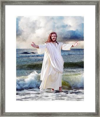 Jesus On The Sea Framed Print by Francesa Miller
