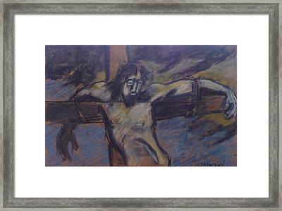 Jesus Remember Me Framed Print by Todd  Peterson
