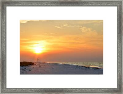 Jesus Rising On Easter Morning On Navarre Beach Framed Print