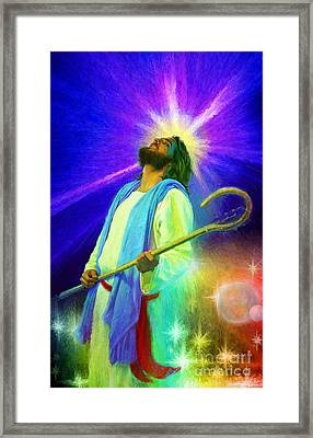 Jesus Rocks Framed Print
