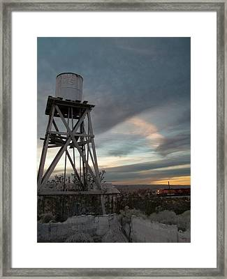 Jesus Saves Watertower - Route 66 Framed Print by Glenn McCarthy Art and Photography