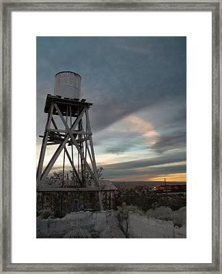 Jesus Saves Watertower - Route 66 Framed Print