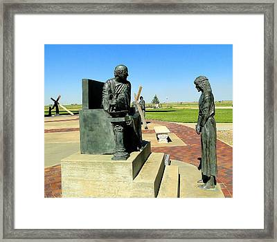 Jesus Sentenced By Pilate Framed Print