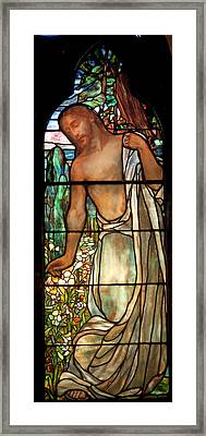 Jesus Stained Art - St Paul's Episcopal Church Selma Alabama Framed Print by Mountain Dreams