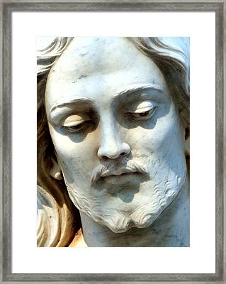 Jesus Statue Framed Print by David G Paul