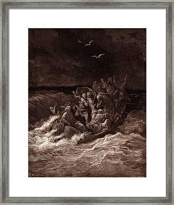 Jesus Stilling The Tempest Framed Print