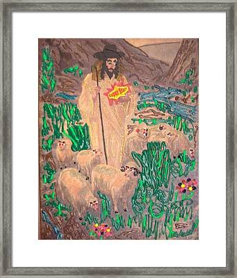 Framed Print featuring the painting Jesus The Celebrity by Lisa Piper