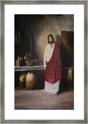 Jesus- The First Miracle- Framed Print by James Neeley