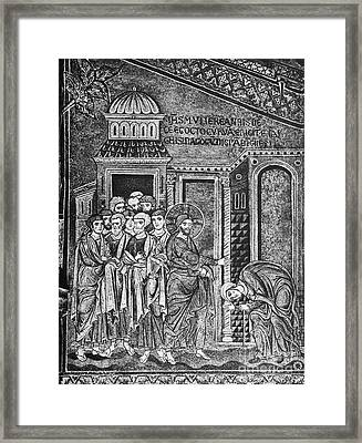 Jesus The Healer, 12th Century Framed Print by Spl