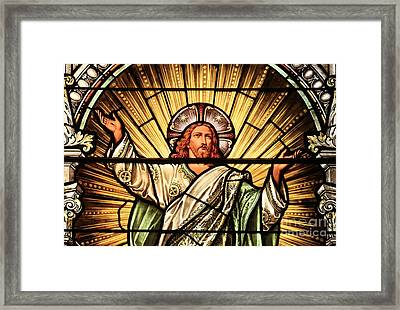 Jesus - The Light Of The Wold Framed Print