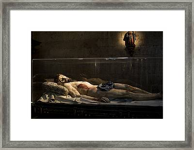 Jesus The Macabre Framed Print by Lorraine Devon Wilke