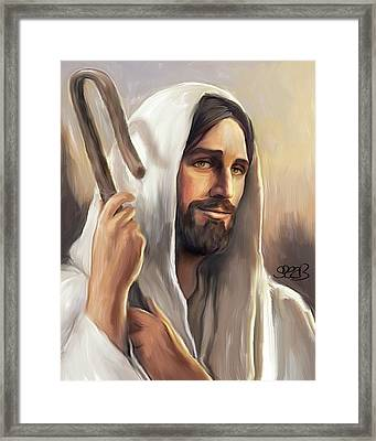 Jesus The Shepherd Framed Print