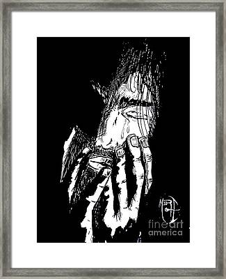 Jesus Wept Framed Print by Justin Moore