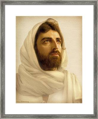 Jesus Wept Framed Print by Ray Downing