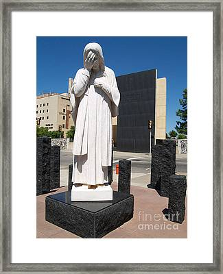 Framed Print featuring the painting Jesus Wept by Robin Maria Pedrero