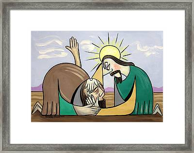 Jesus Will Meet You Where You Are Framed Print by Anthony Falbo