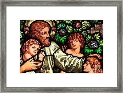 Jesus With Children Framed Print by Adam Jewell