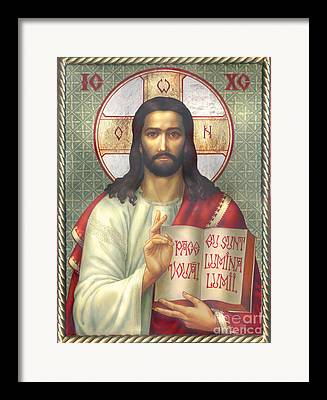 Jesus Writing Framed Prints