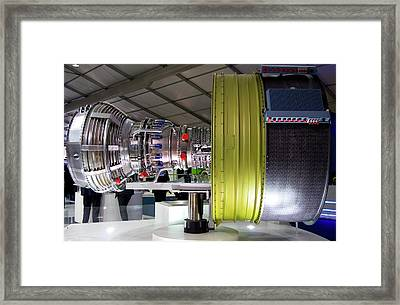 Jet Aircraft Engine Framed Print by Mark Williamson