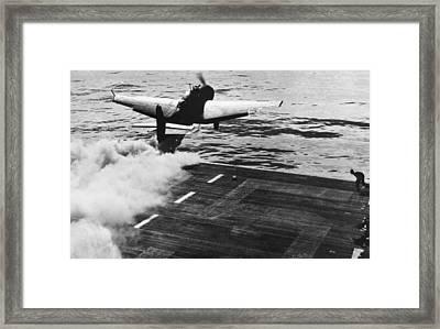 Jet Assisted Take-off Framed Print by Granger
