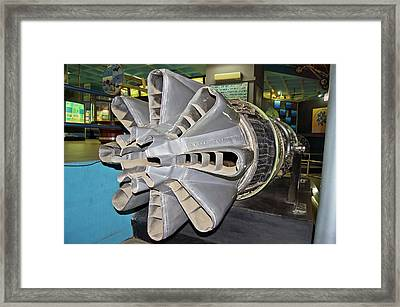 Jet Engine Exhaus Framed Print by Mark Williamson
