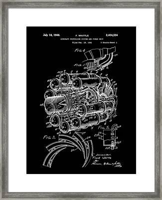 Jet Engine Patent 1941 - Black Framed Print