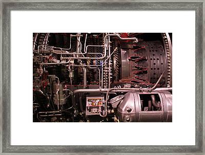 Jet Engine Red Vains Framed Print by Joseph Semary