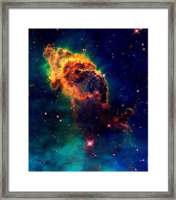 Jet In Carina Framed Print by Amanda Struz