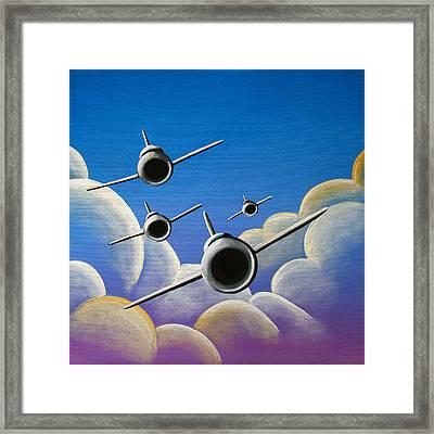 Jet Quartet Framed Print