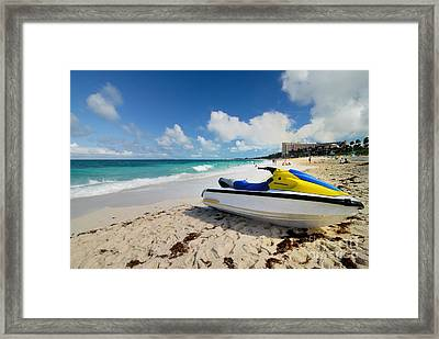 Jet Ski On The Beach At Atlantis Resort Framed Print by Amy Cicconi