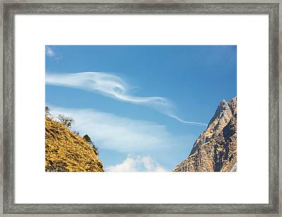 Jet Stream Winds Over Himalayas Framed Print by Ashley Cooper