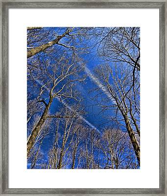 Framed Print featuring the photograph Jet Trails by Robert Culver