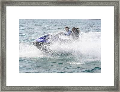 Jetboat Fun Framed Print