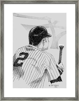 Jeter On Deck Framed Print