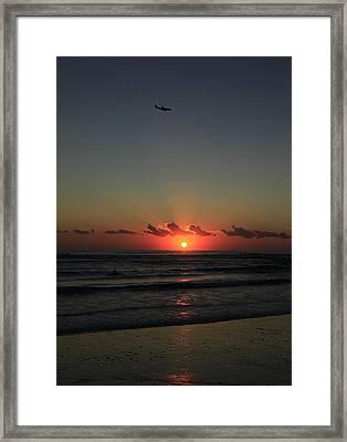 Jetliner At Dawn Framed Print by Noel Elliot