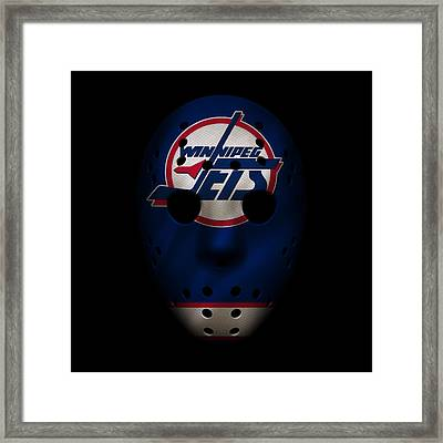 Jets Jersey Mask Framed Print by Joe Hamilton