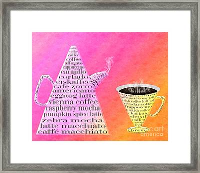 Jetsons Coffee Set Sorbet Framed Print