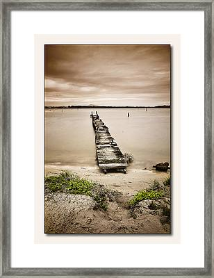 Jetty 01 Framed Print by Kevin Chippindall