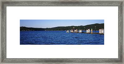 Jetty At Lake Coeur Dalene, Idaho, Usa Framed Print by Panoramic Images