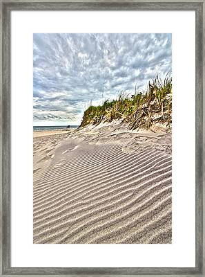 Jetty Four Dune Stripes Framed Print