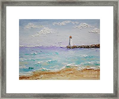 Jetty Lighthouse Framed Print