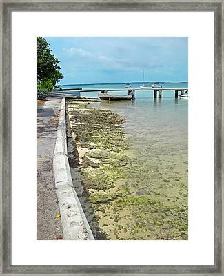 Jetty Old Boats Framed Print by Sarah-jane Laubscher