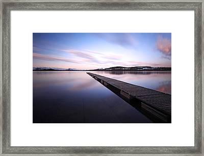 Jetty On Loch Lomond Framed Print by Grant Glendinning