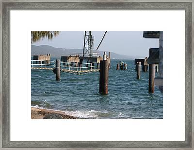 Jetty   Stradbroke Island Framed Print