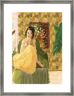Jeune Femme Framed Print by Sydne Archambault