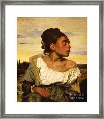 Jeune Orpheline Au Cimetiere Framed Print